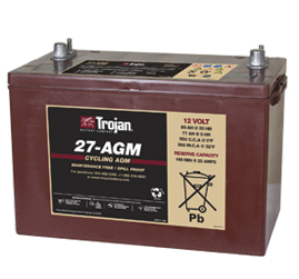 Trojan Group 27 AGM  Battery Free Delivery to many locations in the Northeast.
