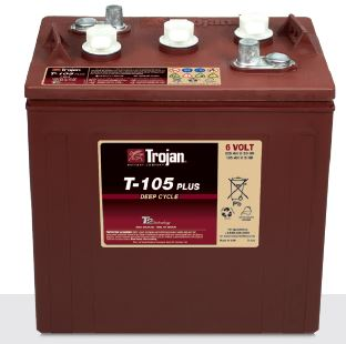 Trojan T-105 Golf Cart Battery Free Delivery to most locations in the lower 48 States*.
