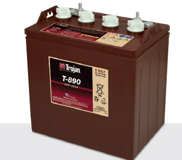 Trojan T-890 Golf cart Battery Free Delivery to most locations in the lower 48 States.