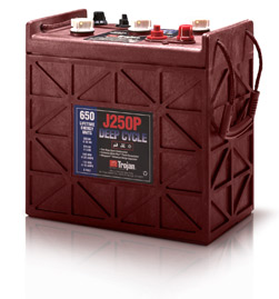 Trojan J205P Deep Cycle Battery, Free Delivery to many locations in the Northeast.
