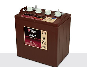 Trojan T-875 Golf cart Battery Free Delivery to most locations in the lower 48 States.