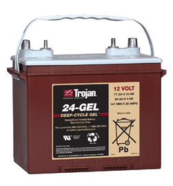 Trojan 24-GEL 12 Volt Deep Cycle Battery Free Delivery most locations in the lower 48.