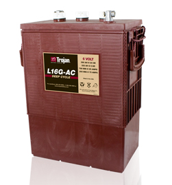Trojan L16G-AC Deep Cycle Battery, Free Delivery to many locations in the Northeast.