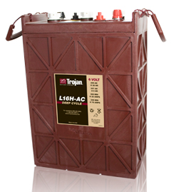 Trojan L16H-AC 6 Volt Deep Cycle Battery, Free Delivery to many locations in the Northeast.