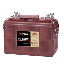 Trojan SCS225 12 Volt GEM CAR Battery Free Delivery most locations in the lower 48.