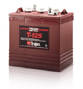 Trojan T-125 Golf Cart Battery free Delivery to most locations in the lower 48 States*.