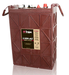 Trojan L16H-AC 435 AH Deep Cycle Battery Free Delivery most locations in the lower 48.