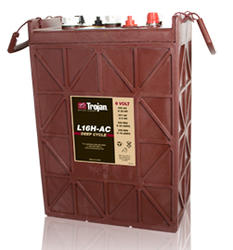 Trojan L16H-AC Deep Cycle 435Ah Battery for Off Grid Systems Free Delivery to many locations in the Northeast.