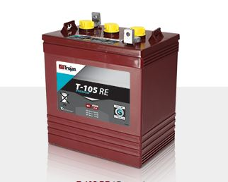 Trojan T-105RE Smart Carbon  Deep Cycle Battery, Free Delivery to many locations in the Northeast.